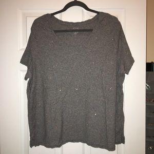 GAP embellished t-shirt grey/rose gold/silver- XXL